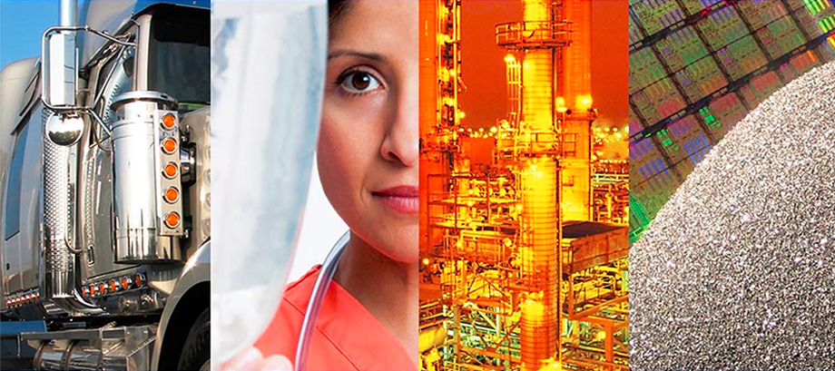 who we are main banner, diesel, medical, energy processes, semiconductor