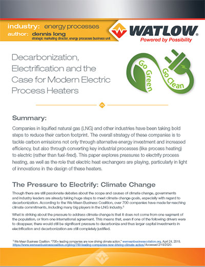decarbonization and electrification white paper