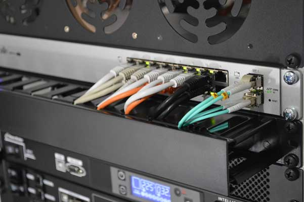 image of ethernet cords plugged into ports