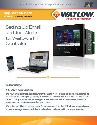 F4T E-Mail and Text Alerts Application Note