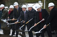 Breaking ground at the site of Watlow's new Advanced Technology Center (ATC)