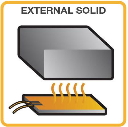 external heating of a solid