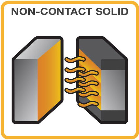 non-contact heating of a solid