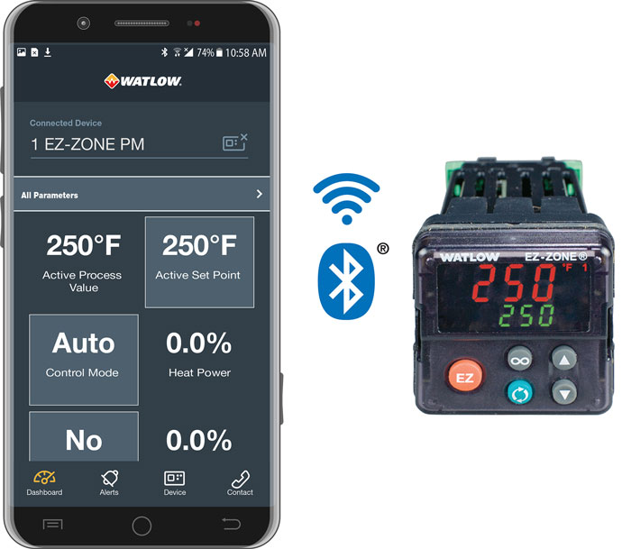 EZ-ZONE PM 温度控制器的 EZ-LINK Bluetooth 应用